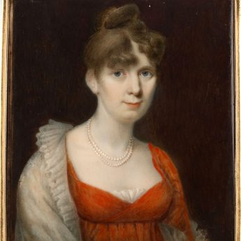 Miniature portrait of Bethia Russell painted by Alexander Gallaway