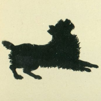 Cut silhouette of dogs by Edouart Augustin
