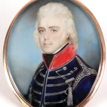 Colourful Dragoons officer painted by Charles Shirreff
