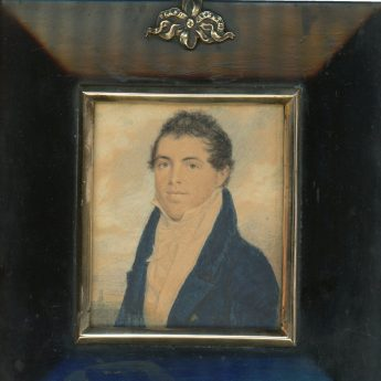 Miniature portrait of George A W Trotter painted in India by John Jukes