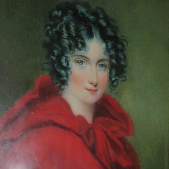 Vibrant portrait of a young lady by Miss Louisa Sharpe