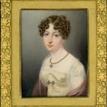 Miniature portrait by John Cox Dillman Engleheart of Sarah Herries