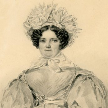 Watercolour portrait of Catherine Hellier painted by Nathan Cooper Branwhite in 1833