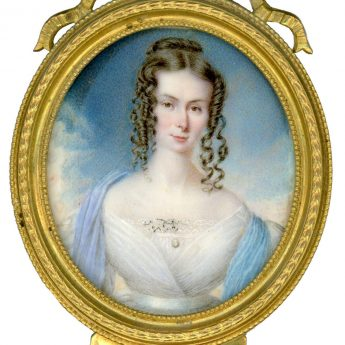 Miniature portrait of Agnes Hey of York painted by Noel Norton Carter