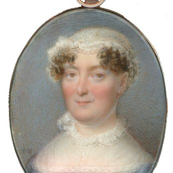 A pair of portrait miniatures by Thomas Hazlehurst