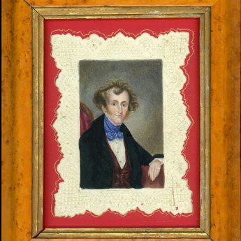 Watercolour of Charles Henry de la Poir MacMurrough Murphy sketched by his sister in 1856