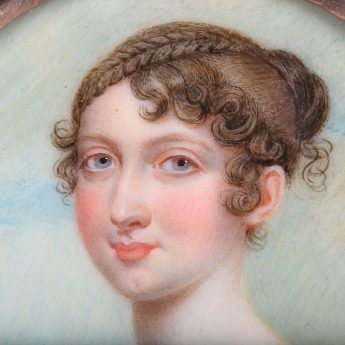 Superb portrait miniature of Susannah Merest painted by Sampson Towgood Roch