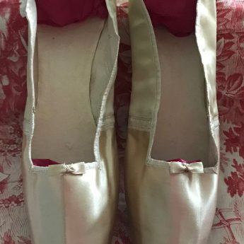 A pair of Regency ivory satin wedding shoes