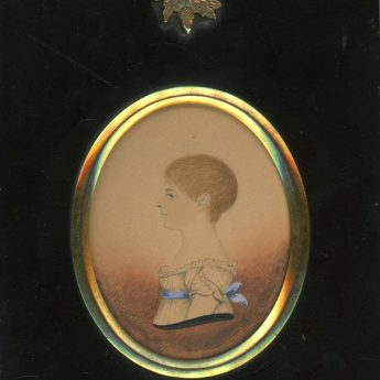 Miniature watercolour profile of a child painted by James H. Gillespie, circa 1810