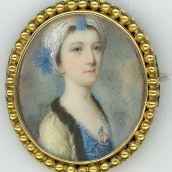Miniature portrait of a young lady after John Smart