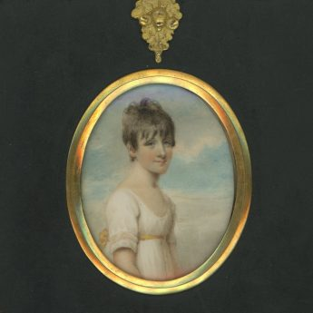 Miniature portrait of Ann Raper painted by Emma Smith