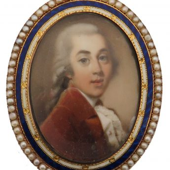 Fine miniature portrait of John Haythorne painted by Abraham Daniel