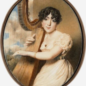 A stunning portrait miniature of Jane Eliza Doddington Sherwood painted by Martha Bellet Browne