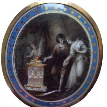 Allegorial miniature attributed to Samuel Shelley