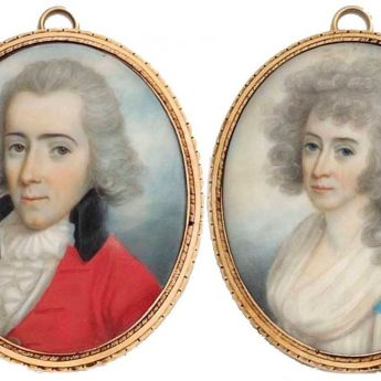 Pair of miniature portraits by Scottish-born artist, John Donaldson