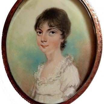 Miniature portrait of a girl painted by Nicholas Freese