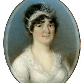 Miniature portrait of a lady by Thomas Hazlehurst