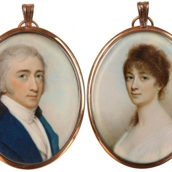 Pair of miniature portraits by Irish artist Charles Robertson