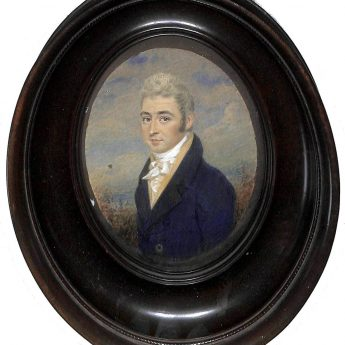 Watercolour portrait of a gentleman painted by John Smart Junior, signed and dated 1808