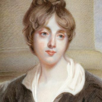 Miniature portrait of Elizabeth Catherine Caroline Hervey, later The Hon. Mrs Charles Rose Ellis (1780-1803) painted by Alexander Gallaway