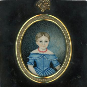 Miniature portrait of Maria Keens, aged 5½