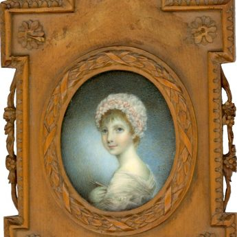Miniature portrait of a girl signed J.S.