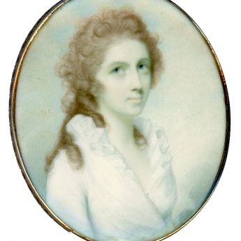 Miniature portrait of a lady by Irish-born artist Charles Robertson