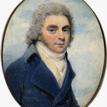 Miniature portrait of a gentleman by Henry Edridge, signed and dated 1795