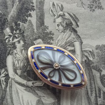 A brooch exchanged as a token of love or friendship dated 1792
