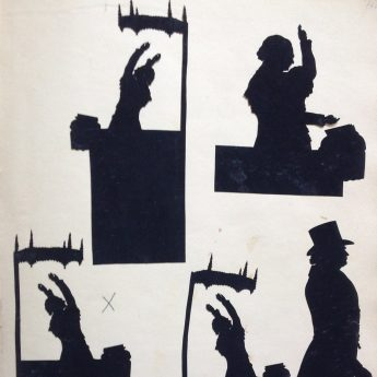Augustin Edouart, cut silhouette of Scottish preacher Edward Irving