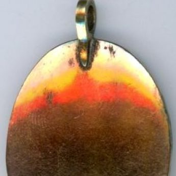 Tiny memorial pendant dedicated to J. Pinfold and dated 1779