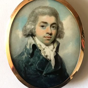 Handsome portrait miniature of a gentleman by Henry Edridge