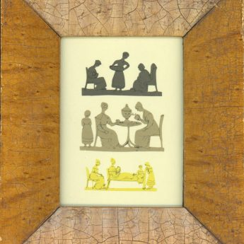 Miniature cut silhouette scenes, early 19th century