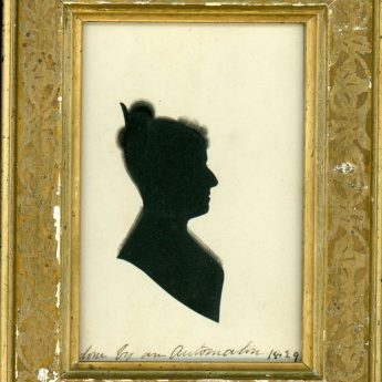 Hand-painted silhouette dated 1829