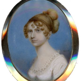 Miniature portrait of a young Regency lady by Herve