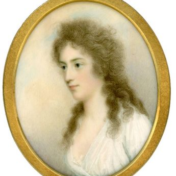 Miniature portrait of Mrs Quin painted by Irish artist, Charles Robertson