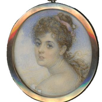 Pretty little portrait miniature of a young lady