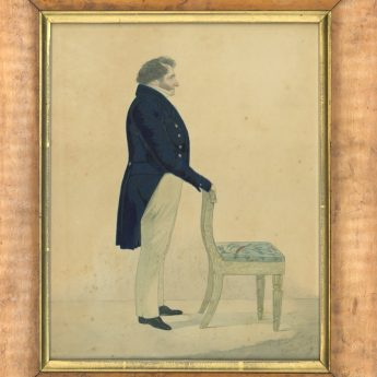 Richard Dighton, full-length watercolour portrait of a gentleman