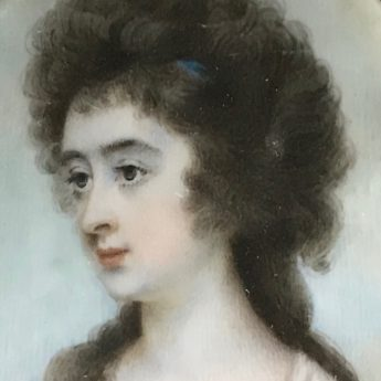 Miniature portrait of a lady by Horace Hone