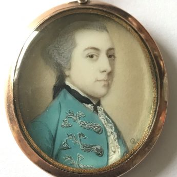 Miniature portrait of a gentleman by Gervase Spencer