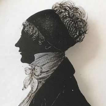 Silhouette of HRH Princess Mary painted by William Hamlet the Elder