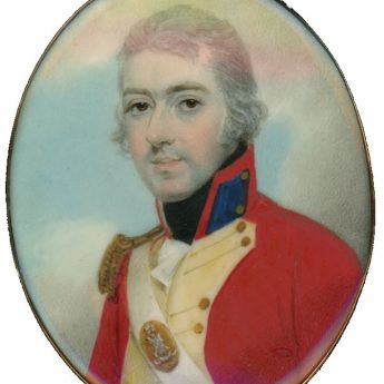 Miniature portrait of a Scottish officer by Henry Jacob Burch