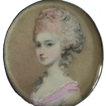 Miniature portrait of Lady Drummond