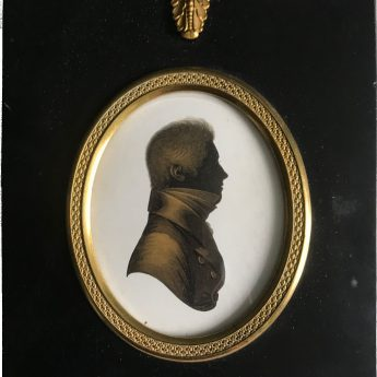 Silhouette painted on plaster and gilded by John Field