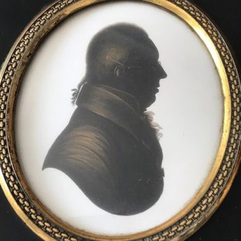 Painted silhouette of a gentleman by john Field