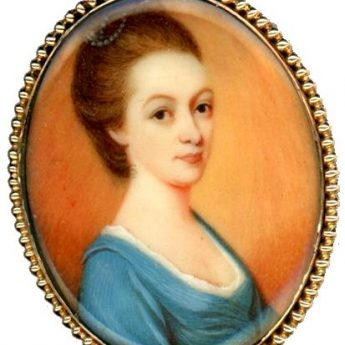18th Century miniature portrait of an elegant lady
