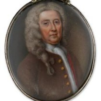 Enamel portrait of a gentleman by William Prewett