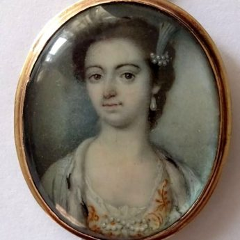 Miniature portrait of an aristocratic lady by Luke Sullivan