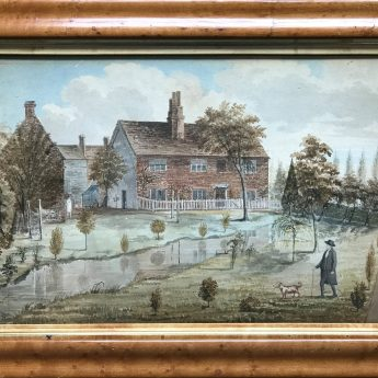 Naive Watercolour of a Farmhouse, circa 1800