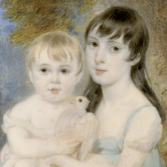 Miniature portrait of Sir Francis Grant and his sister as children